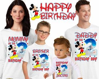 Mickey Mouse Birthday ShirtFirst ShirtBirthday BoyPersonalized ShirtMickey Party Shirtbirthday BoyH27