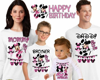 Minnie Mouse Birthday ShirtPersonalized Shirtminnie Girlfirst Birthdayminnie PartyH 53