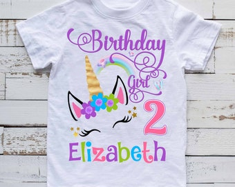 Unicorn Birthday Shirt,Unicorn shirt, birthday girl unicorn, unicorn outfit, personalized Unicorn Shirt,Unicorn Custom shirt, unicorn H218