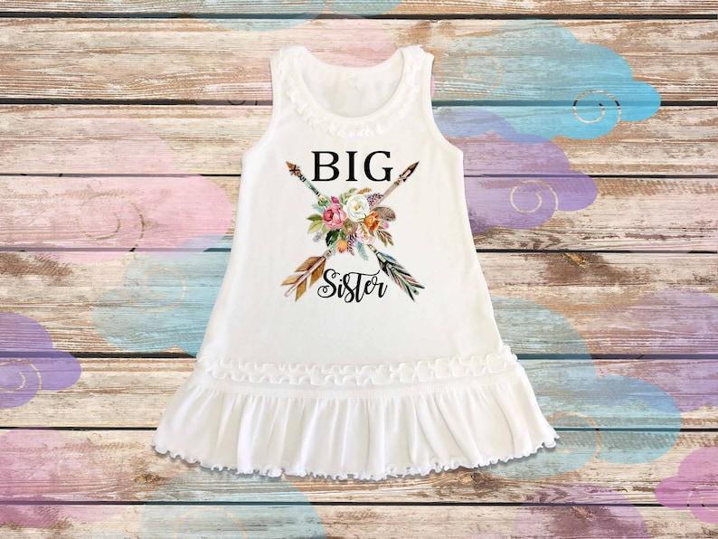 Big sister outfit Personalized Dress floral little sister dress,Little Sister Dress,Custom dress,Shirt,boho dressH-105e Big Sister Dress
