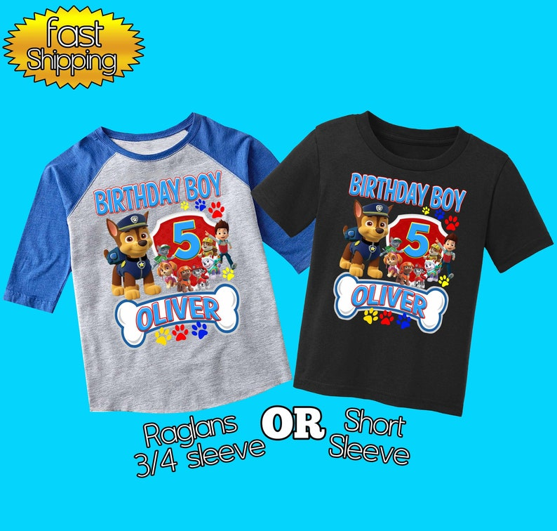 Paw Patrol Birthday Shirtpaw Shirtcustom