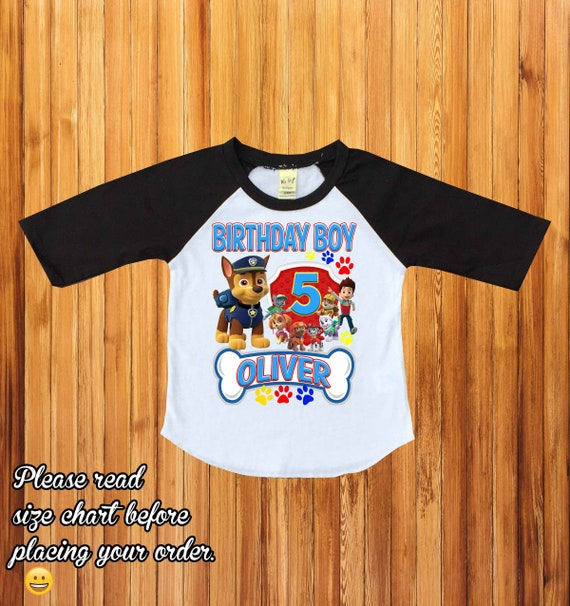 lovely luster biggest selection quality design Paw patrol birthday shirt,personalized paw patrol birthday shirt, paw  patrol party shirt, first birthday shirt,raglan paw patrol,custom,H-28