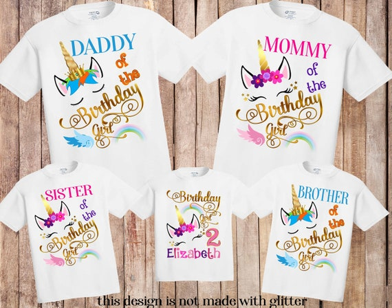 Unicorn Birthday Party Outfit Mommy me Unicorn Mom T Shirt Women Kid Unicorn Party Shirt Unicorn Themed party Matching Unicorn Mom daughter