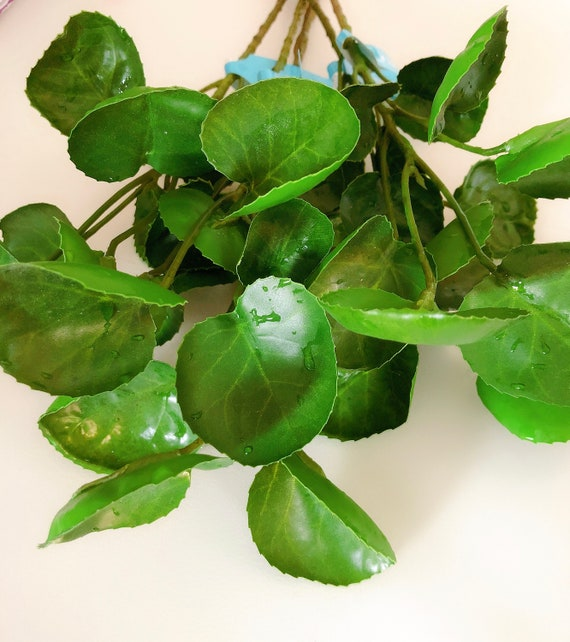1 Stem Of Artificial Branch Leaf Fake Leaves Fake Leaf Etsy