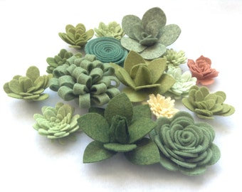 Your Choice 2 Colours DIY Flowers and Succulents Craft Supply Set of 72 Felt Flower Petal Die Cuts Wool Blend Felt DIY Crafts