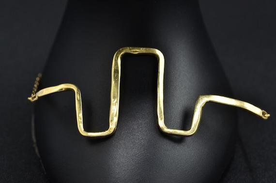 Funky Mid-Century Modern 14 Karat Yellow Gold Brac