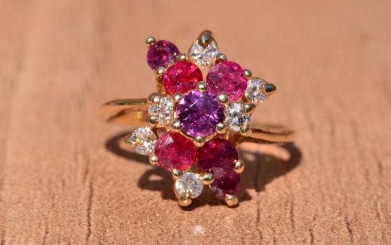 Bubblegum Ruby & Diamond Cocktail Ring