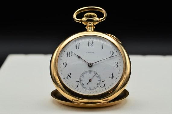 Antique Engraved B Wolff Gruen Pocket Watch in 14