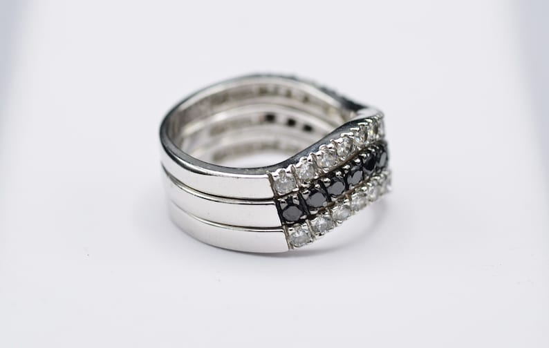 Trio of Sterling Silver Stacking Wave Bands