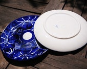 Talavera Clay Azul Mexican Ceramic 10 in Dinner Plate Set of 2