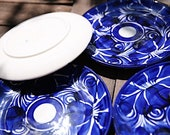 Talavera Clay Azul Mexican Ceramic 10 in Dinner Plate Set of 4