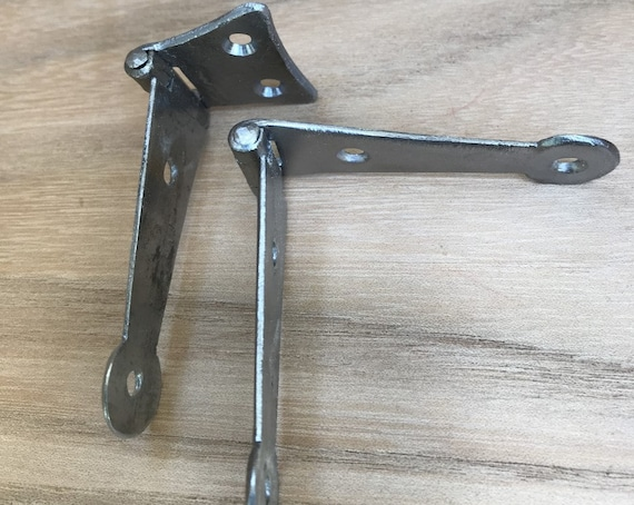 Small Reverse Pinned Full Strap hinges and Half Strap Hinges with Forged head Iron Nails and Brass Screws