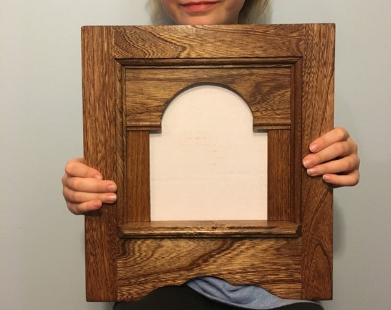 Colonial Style Single Pane Stained and finished Picture Frame