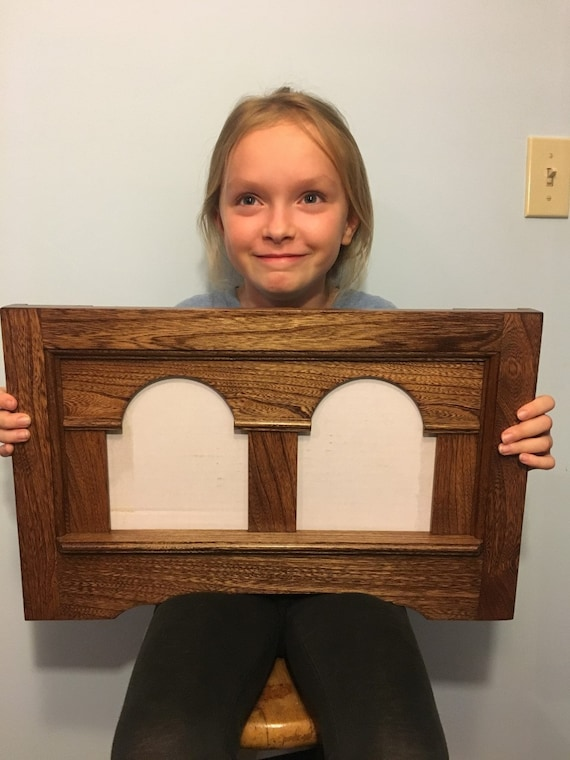 Stained and finished Colonial Style Double Pane Picture Frame