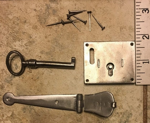 17th-19th Century Hasp Lock for Small Trunks, Chests and Boxes.