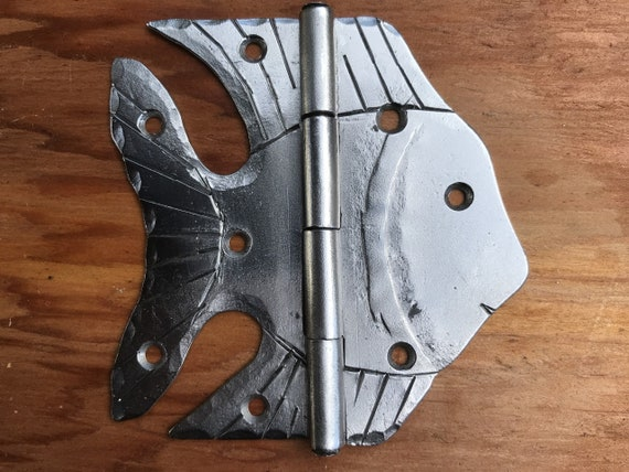 Hand Forged Angel Fish Cabinet Door Hinge