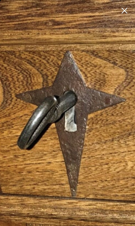 Hand Made Morning Star Escutcheon/ Keyhole Cover