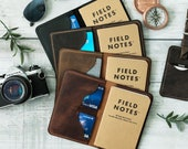 Personalized Leather Field Notes Wallet, Field Notes Cover, Moleskine Cover, Passport Wallet, Personalized Gift, Handmade, Fathers Day Gift