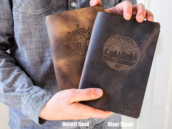 Personalized Leather Journal Refillable 5x7 Made in the USA