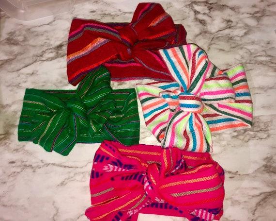Mexican serape Loteria baby girl headband  Hair bow