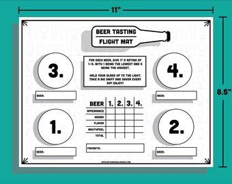 Beer Tasting Flight Mat - Host your own craft beer tasting!
