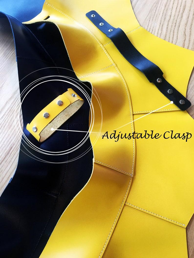 Leather Skirt Waist Belt Corset top Peplum Genuine Black Leather Adjustable Zip