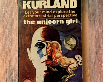 The Unicorn Girl by Michael Kurland, 1974, Pyramid, Good Condition