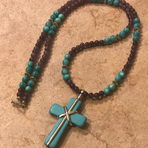 Green Beaded Jewelry On ETSY Alteredhead Crucifix Green Beads Cherries Jubilee Cross Necklaces Beaded Jewelry Cross Symbol Beaded Necklaces