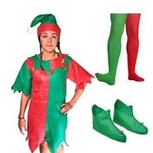 Santas Little Helper Baby Elf Costume Childrens Elf Set,little elf Santas Elf Tabard /& Hat Christmas Elf Costume Little Elf Outfit