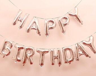 Happy birthday balloons | Etsy