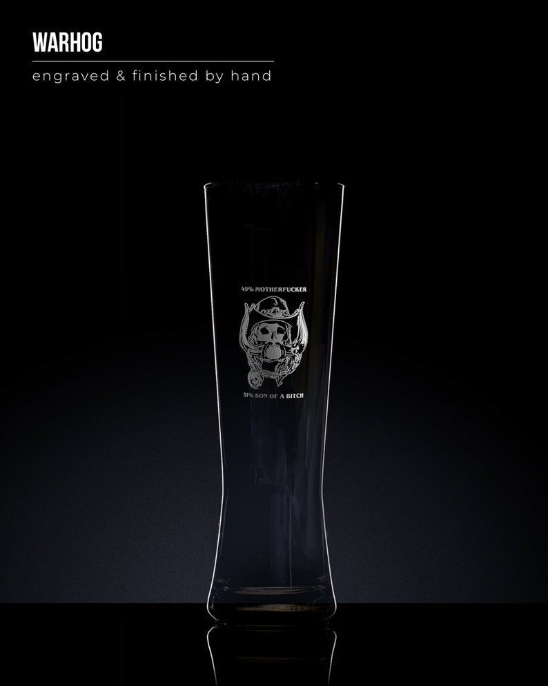 Lemmy MotorHead Hand Painted Pint Glass Tankard