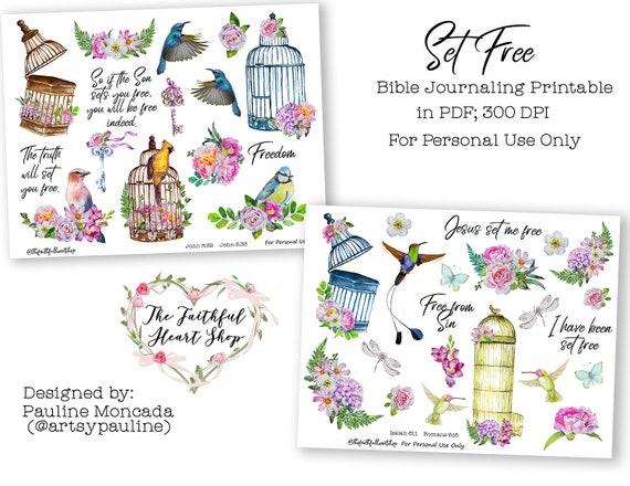 Set Free Bible Journaling Digital Download Printable Etsy