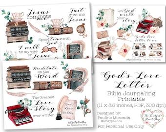 God's Love Letter Bible Journaling Digital Download Printable