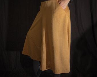 Trouser skirt made of original GDR fabric Size L