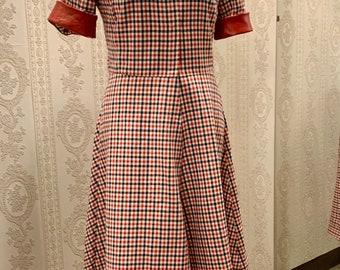 Coat dress made of original GDR fabric Gr XS