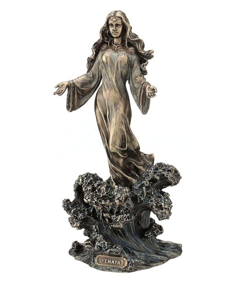 Goddess of The Ocean Statue Sculpture Yoruba Orisha Santeria Figurine Yemaya