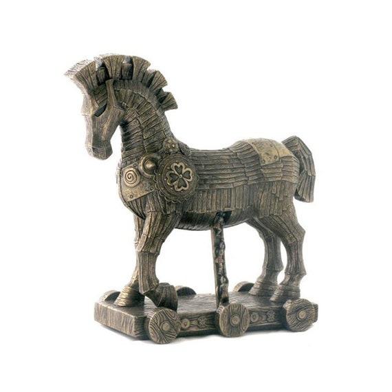 Trojan Horse Sculpture Wooden Bronze Art Antique Style In Greek Mythology Of Troy Statue By Veronese Design 1063