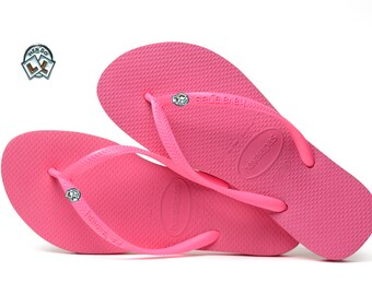 b0a7ae43e112 Hen Do Wedding Havaianas Bridal Flip Flops Shocking Pink