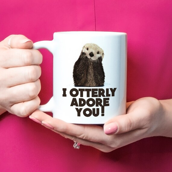 Sea Otter Gift Sea Otter Mug Sea Otter Coffee Cup Etsy