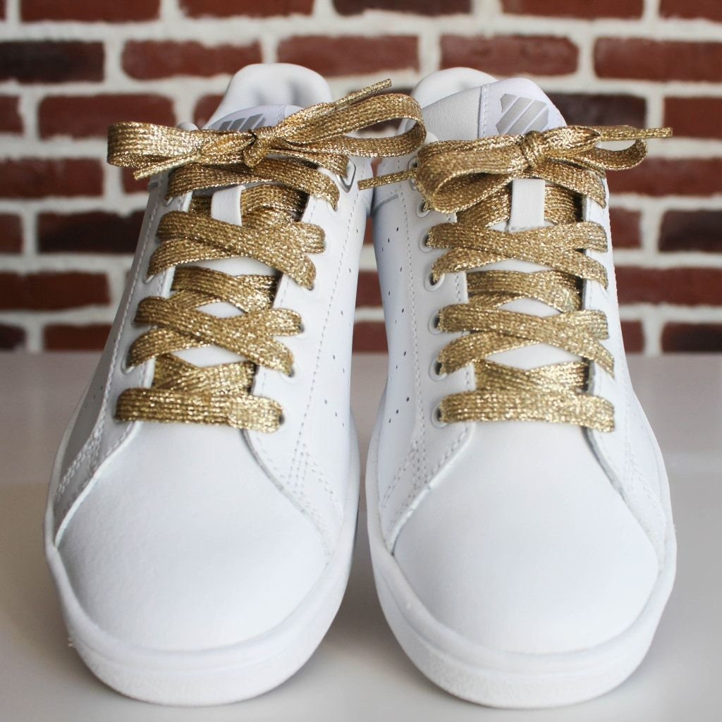 Couleur Tendance Wc 2018 golden laces gold with shiny sequined - original laces for sneakers and  shoes - shoe accessory