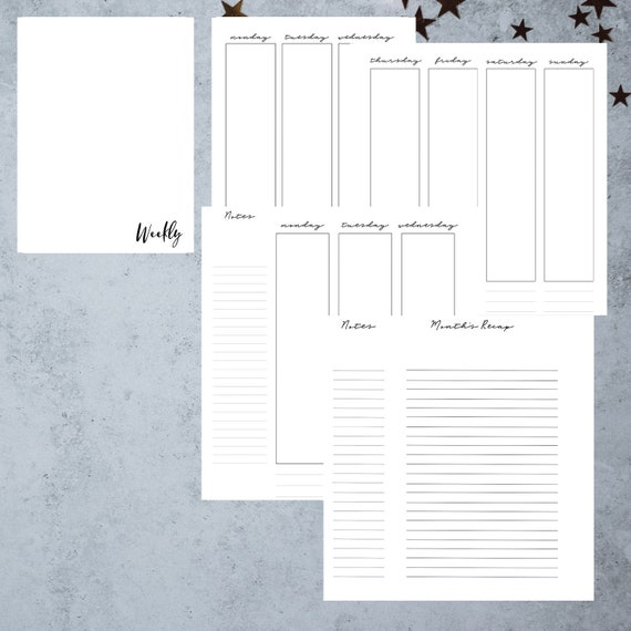 image about A5 Planner Printables named A5 Planner Inserts Printable Productiveness Planner Weekly Program  Pion Planner Printables A5 Planner Internet pages