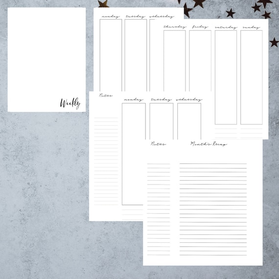 image relating to A5 Planner Printables referred to as A5 Planner Inserts Printable Productiveness Planner Weekly Plan  Pion Planner Printables A5 Planner Webpages