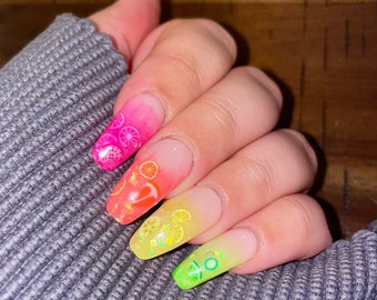 Tutti Fruitty | Press On Nails | Nail Extensions | Gel Nails | Coffin | Stiletto | Square | Oval | Nail Art | Nail Decal | Nail Sticker