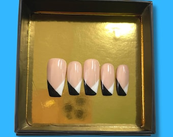 Suit 'n Tie | Press On Nails | Nail Extensions | Gel Nails | Coffin | Stiletto | Square | Oval | Nail Art | Nail Decal | Nail Sticker