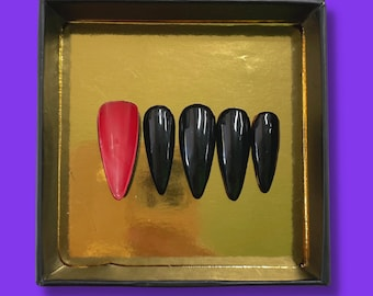 Red Bottoms | Press On Nails | Nail Extensions | Gel Nails | Coffin | Stiletto | Square | Oval | Nail Art | Nail Decal | Nail Sticker