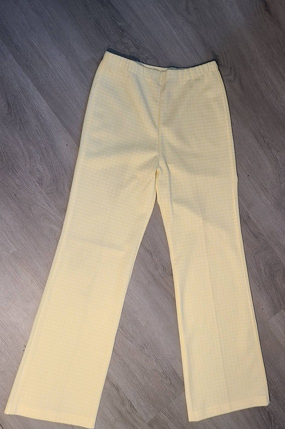 Vintage flared pants, gingham flares, high-waisted