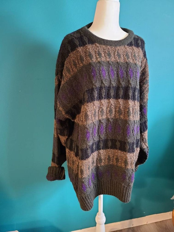 oversized sweater size EXTRA LARGE ugly sweater size LARGE pullover boyfriend 80s sweater Vintage sweater vintage ugly sweater