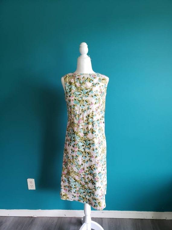 1960s cotton sheath dress, shift dress, vintage dr