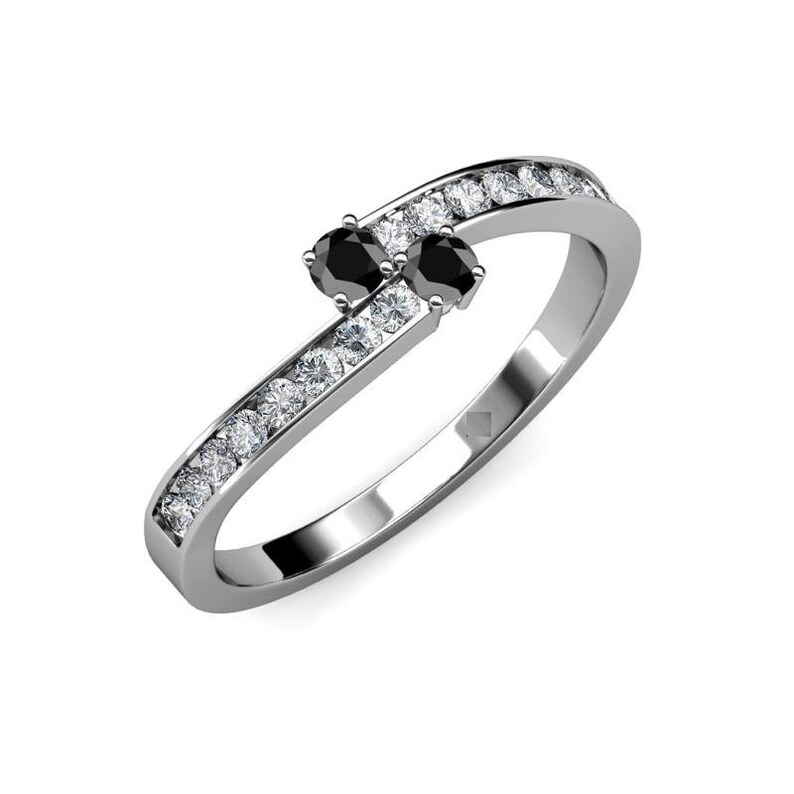 Beautiful Round Cut Black Diamond Ring In 925 silver with White Accents For Women/'s Jewelry,Wedding Ring,Engagement Ring 1.70 Ct Certified