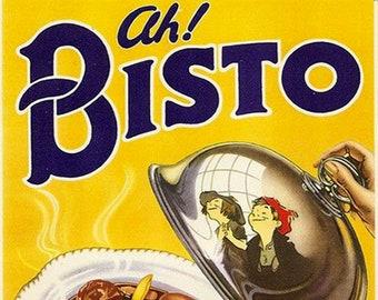 Bisto gravy retro advert vintage metal wall sign plaque kitchen home decor